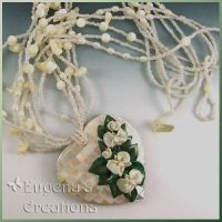 Bridal Orchids Necklace by Eugena777
