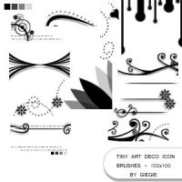Tiny Art Deco Icon Brushes by GieGie