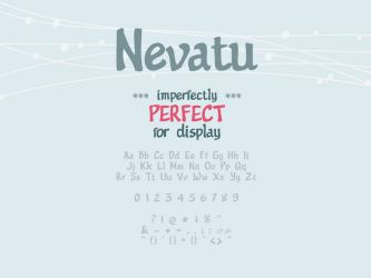 Nevatu Font by GraphicIdentity