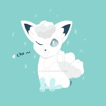 Alolan Vulpix commsion for Evilyarno by Taki-chanEDM