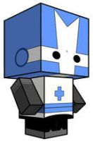 Blue Castle Crasher Cubee by sixtimesnine