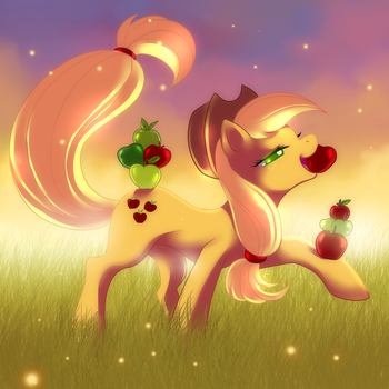 Applejack-Proud by Jacky-Bunny