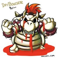Dry Bowser by FlintofMother3
