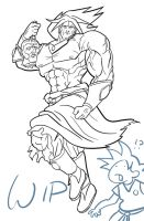 Broly ink by MichaelSchauss