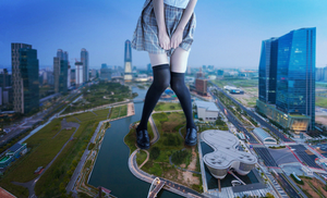 Giantess Unexpected Growth by dochamps