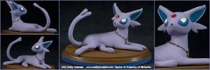 Commission : Espeon by emilySculpts