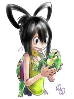 Asui Tsuyu and Frog by HeyWei