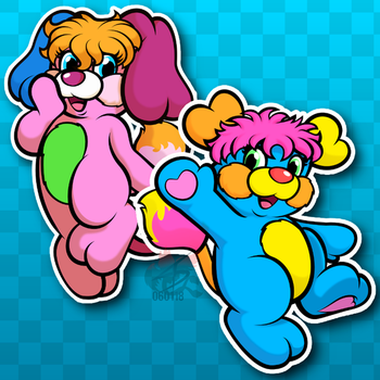 Stickers - PC and Pancake by CindersDesigns