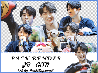 [PACK RENDER #01] [7 Png Pack] JB - GOT7 by ParkMinyoung5