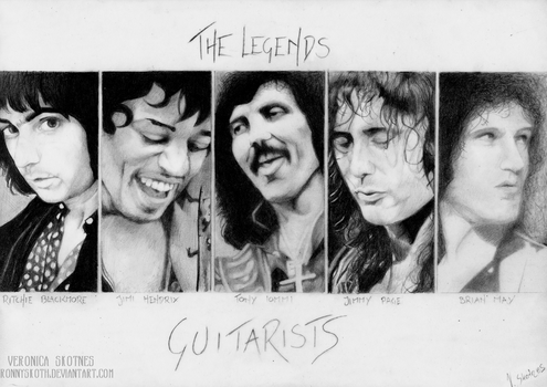 The Legends - Guitarists by RonnySkoth