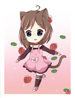 Art trade: BurittaKittyNeko by Miyunea