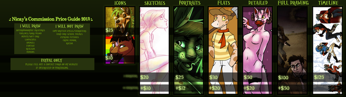 Commission Price Guide 2013 by Nicay