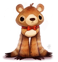 Daily Paint #659. Quckie...bear thing guy by Cryptid-Creations