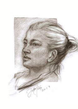 realistic portrait study II by Kissingwithjohn