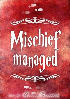 Mischief managed - PRINT by RoryonaRainbow