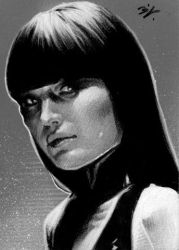 Silk Spectre black and white by Ethrendil