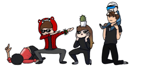 Youtuber Squad by Ur4niumPineapple