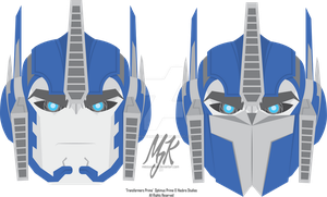 TFP OPTIMUS Vector-Based - Facial Study by MessyArtwok