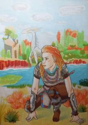 Fanart Horizon Zero Dawn - Aloy by Kailyce