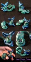 Jewel Keeper Dragon Sculpture Details by Ilenora