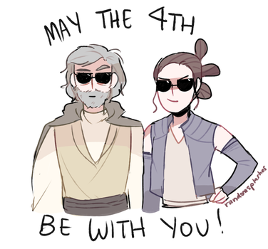 Happy Star Wars Day! May the 4th be with you by Randomsplashes
