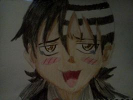 Death the Kid      Colored :D by KippyKitKat