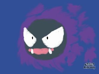 Pokemon Art Academy - Gastly (Quick Sketch) by GamerGyrl