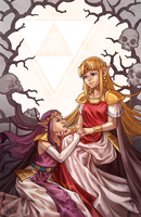 We are both Princesses after all [Zelda: LBW] by Shattered-Earth