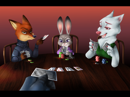 After Work Poker by Wiwolf