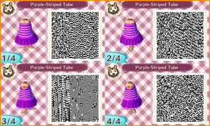 ~Animal Crossing~ QR Codes - Purple-Tube Dress by sakurablossom143
