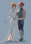 Lion-O  and Leah by Autumn-Sacura