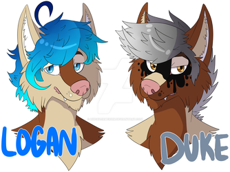 Logan and Duke Pines Badges by huchzermeierm