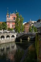 Bridges of Ljubljana by LunaFeles