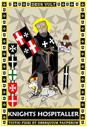 Hospitaller Standing with Banner 13x19 Poster by williammarshalstore