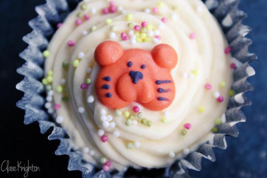 Tiger Cupcake by Clerdy