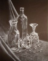White Pencil Glass Study by Swii