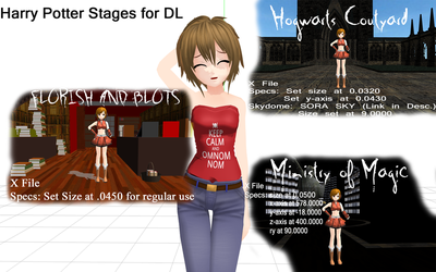 Harry Potter MMD Stages Download by Nodiel-71