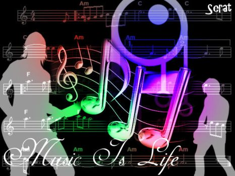 Music Is Life by Scrattii