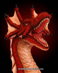 Red Scourge Dragon by Jujusaurus