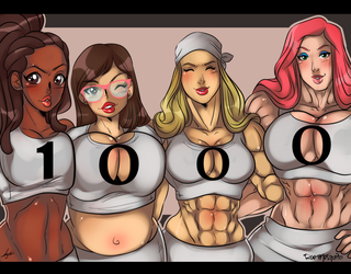 Cleavages and Curves - 1000! by Odie1049