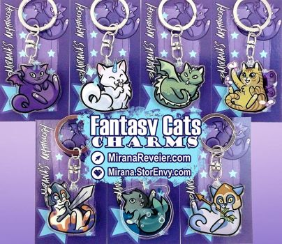 Fantasy Cats Charms by mirana