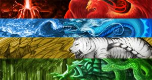 Four Holy Beasts by Mengluoli