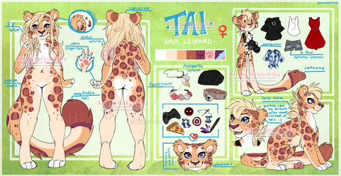 Reference sheet: Tai by Nekoshiba