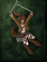 Attack on Titan sasha MLP by Derpsonhooves
