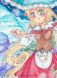 Snowy day aceo 131 by Enatis
