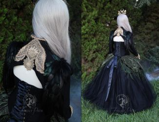 Hedge Witch Gown back view by Firefly-Path