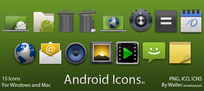 Android Style Icons R1 by wwalczyszyn