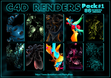 C4d Renders Pack#1 by TheMythxXx