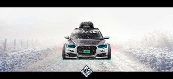 Audi A6 Allroad // The Snowmonster - Front-View by KlausAuto