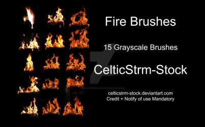 Fire Photoshop Brushes by CelticStrm-Stock by CelticStrm-Stock